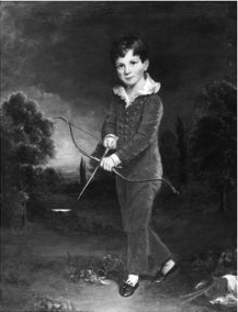 boy_with_a_bow_bw